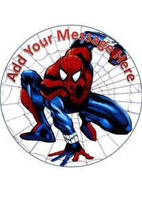 7.5 INCH 19 CM SPIDERMAN #1 PERSONALISED EDIBLE WAFER PAPER CAKE TOPPER