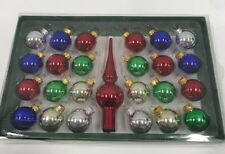 Kurt Adler Glass Multicolored Ball Set NEW in box