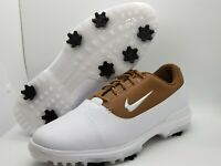 Nike Air Zoom Victory Pro White Brown Golf Shoes AR5577-101 Mens Size 10