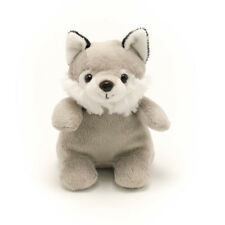 "5"" Stuffed Animal Gray Wolf Bean Plush Toy Child Gift Toddler Boy Girl"