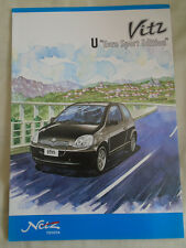 Toyota Vitz U Euro Sport Edition brochure 1999 Japanese text