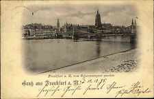Frankfurt am Main Hessen 1898 Partie Blick vom Schaumainquai Brücke Fluß Totale