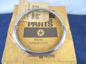 NOS Park Light Bezel 1957-1960 Dodge Truck Pick-up 57-60 Fargo Pickup 1662316
