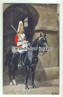 su2039 - Life Guard on Sentry Duty at Horse Guards - art postcard