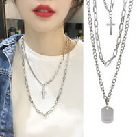 Women Multi-layer Long Chain Pendant Crystal Choker Necklace Jewelry Decor