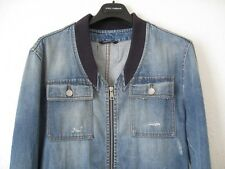 DOLCE & GABBANA VIA SAN DAMIANO.7 PLATE DENIM JACKET SIZE 50 LARGE