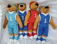 "BJ Toy 16"" Basketball Teddy Bear Plush Bulls Duke NC Color Sports Fan Stuffed 7a"