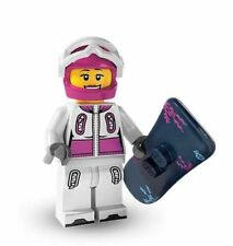 Lego Series 3 minifigure BN 8803 mini figure snowboarder femal girl snow board w