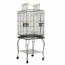 i.Pet PET-BIRDCAGE-A102-BK Large Bird Cage with Perch - Black