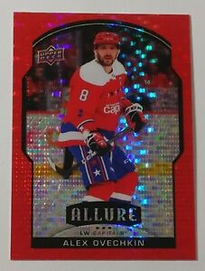 2020-21 UD Allure Alex Ovechkin Red Rainbow SP #1