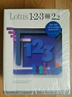 Lotus 123 Ver 2.2 for Windows Software 1-2-3 1990's IBM 5 1/4 - NEW Sealed