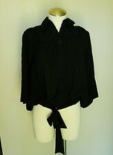 RYU BLACK BATWING SLEEVE TOP SIZE SMALL