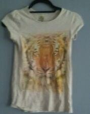 Girls Beige Tshirt with Tiger Design size 12-13yrs