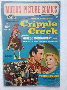 Motion Picture Comics #114 (Jan 1953, Fawcett) [VG- 3.5] featuring Cripple Creek
