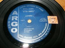 ETTA JAMES - MINI LP Stereo 33t -  ARGO 4013 ( NO COVER ) / LISTEN / R&B
