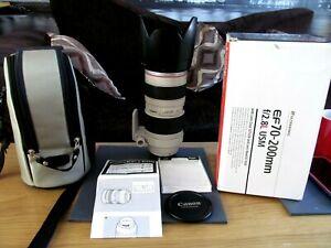 Boxed Canon EF 70-200mm 2.8 l usm lens