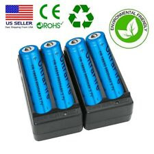 4* 18650 3.7V Li-ion Lithium Rechargeable Batteries + 2X Smart Charger UltraFire