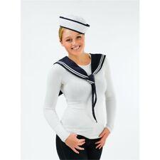 Sailor Girl Doughboy Hat & Scarf Set Womens Fancy Dress Accessory P5770