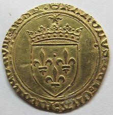Très belle monnaie - Charles VIII - Ecu d'or au soleil - 1483-1498 - Tours -