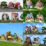 1pc Miniature Dollhouse Resin House Garden Fairy Bonsai Fish Tank DIY Decor Toy
