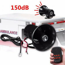 Loud 7 Sounds 150dB Tone Horn Siren Speaker Alarm for Car Van Auto Boat Police I