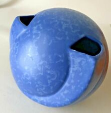 """Red Wing RumRill 1930s Art Pottery Mottled Dutch Blue 6"""" Round Vase 600-6"""