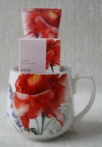 Marks & Spencer Floral Collection ROSE Mug Soap Hand Cream Gift SET Mother's Day