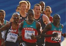 ATHLETICS: VINCENT KIPROP CHEPKOK SIGNED 6x4 ACTION PHOTO+COA *KENYA*