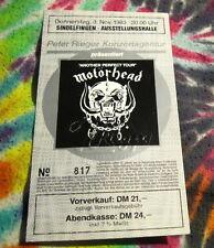 MOTORHEAD - ANOTHER PERFECT TOUR - GERMAN UNUSED TICKET - NOV. 3, 1983 -- K@@ L