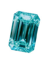 Emerald Loose Moissanite 4 Ring/Jewelry/Earrings 16.22 Ct Blueish Green Color