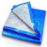 Multi Purpose Tarp Outdoor UV, Water Resistant Reversible Protective Poly Cover