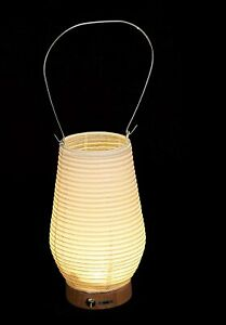 Japanese Paper Lantern Hayashi Kougei FORES RIN-22 Portable LED Stand Noppo