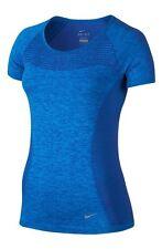 NIKE Dri Fit Maglia Maniche Corte T Shirt Donna UK piccole (718569 459)