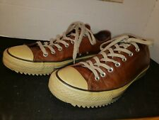 Leather Converse All Star Sneakers Brown  M 12 W 14, Pinecone soles, Very Good