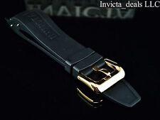 NEW Invicta Pro Diver Scuba Black Rubber Strap Band Gold Buckle AUTHENTIC