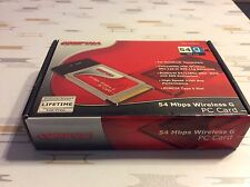 Used CompUSA (SKU 333622) 54 MBPS wireless G PC Card Notebook Laptop Computers