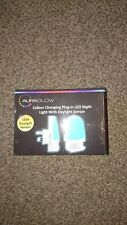 Colourful Charging Plugs In LED Night Light With Daylight Senor