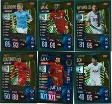 2019-20 MATCH ATTAX CHAMPION LEAGUE SOCCER LIMITED EDITION GOLD CHOOSE YOUR CARD