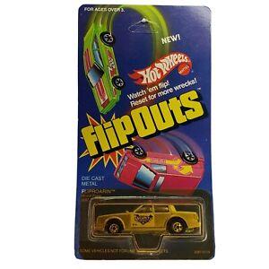 Hot Wheels #2287 Flip-Outs Fliproarin Silver Die Cast Car Mattel Vintage 1985