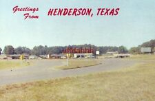 GREETINGS FROM HENDERSON, TX traffic circle entering city Color by Lee Caskey