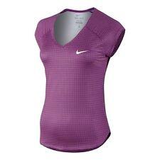 Nike Women's Stampato Pure Tennis Top in viola cosmico-Adulto Medio
