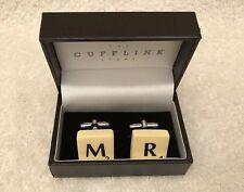 Cufflinks Personalised Scrabble Pieces M /R. BNIB