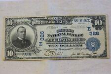 "1902 SERIES $10 NATIONAL BANKNOTE "" Mechanicsburg PA"""