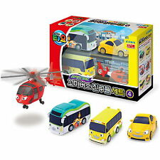 Little Bus TAYO's New Friends Special IV 4 pcs car Toy -Air,Peanut,Kinder,shine