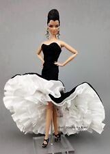Eaki Tango White Evening Dress Outfit Fits Barbie Silkstone Fashion Royalty FR