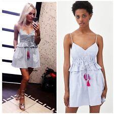 Zara Strappy Jumpsuit Dress With Pompoms Size XS - EXTRA SMALL - UK 6 - BNWT