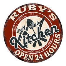 CWMK-0090 RUBY'S KITCHEN Rules Tin Sign Mother's Day Christmas Gift For Woman