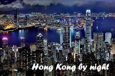 SOUVENIR FRIDGE MAGNET of HONG KONG BY NIGHT