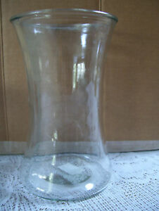 "Napco Crystal Clear Glass Vase 7 3/4"" Tall & 4 3/4"" Across Flowers Vase"