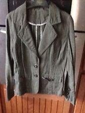 Ladies Dorothy Perkins Khaki Green Military Look Jacket .size 12